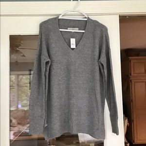 NWT Loft oversized grey sweater